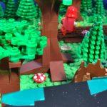 Rotkäppchens 'Hopserschritt' mit flachem 2x4er Stein